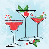 Retro-style Holiday Cocktails