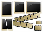 retro-styled photoes and film strip