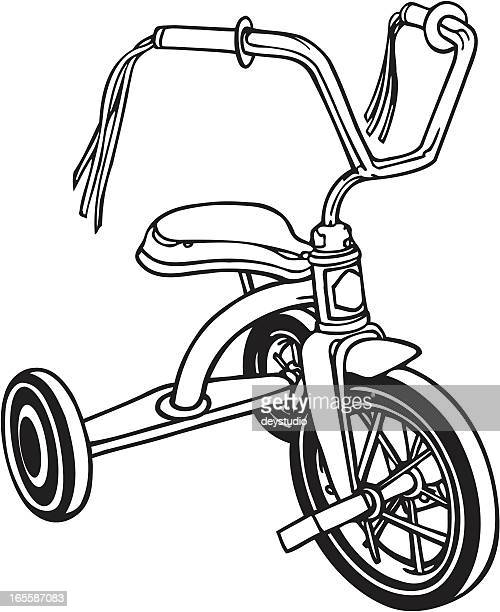 Retro-Tricycle in B&W