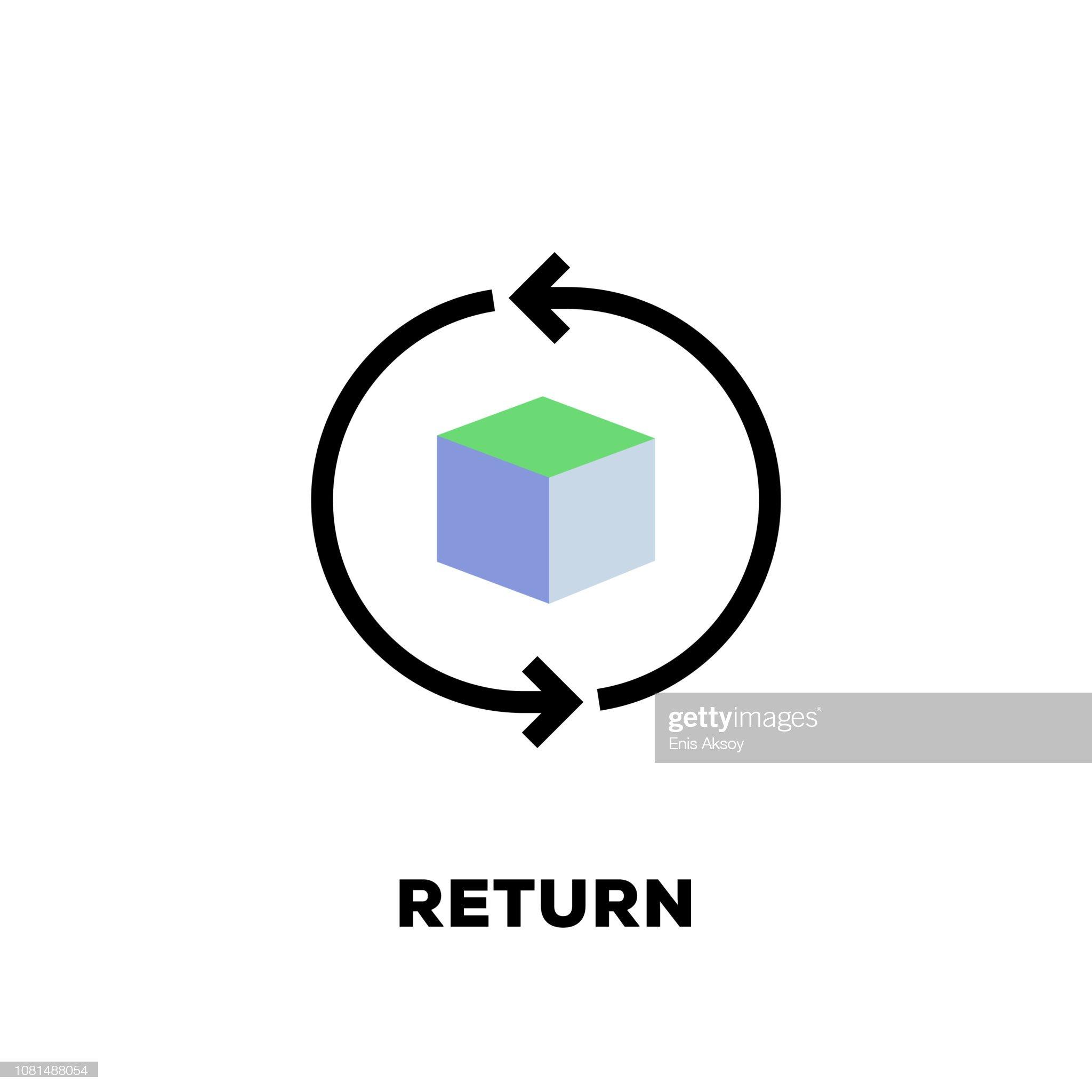 Return Line Icon : stock illustration