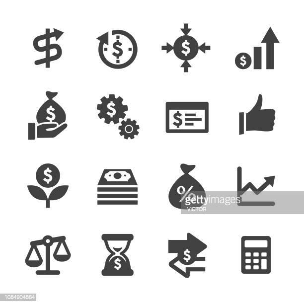 return on investment icons - acme series - return on investment stock illustrations