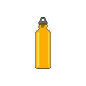 Reusable water bottle vector illustration