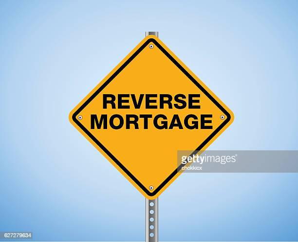 stockillustraties, clipart, cartoons en iconen met reverse mortgage - terugtrekken