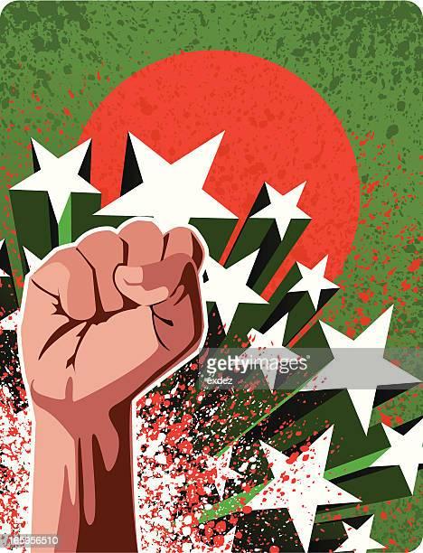 revolution in bangladesh - dhaka stock illustrations