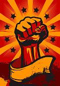 Revolution Poster in Retro Style.