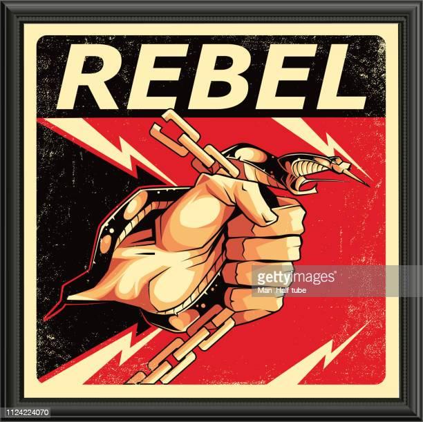 revolution-zeichen - chaos stock-grafiken, -clipart, -cartoons und -symbole