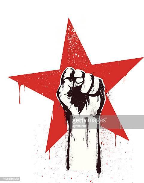 revolution stencil - guerrilla warfare stock illustrations