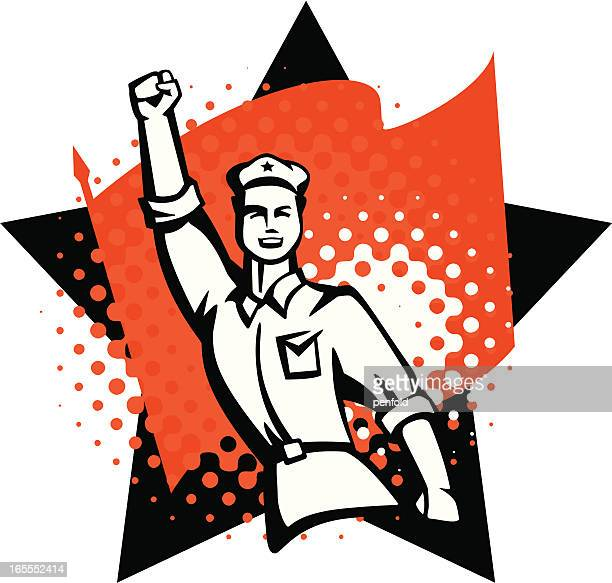 ilustraciones, imágenes clip art, dibujos animados e iconos de stock de revolución - socialismo