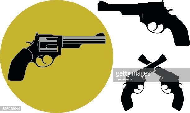 revolver - pistol stock illustrations