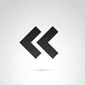 Rewind, fast forward icon.