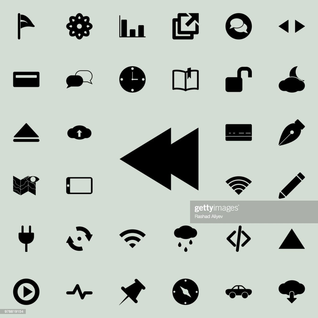 rewind sign icon. Detailed set of minimalistic icons. Premium graphic design. One of the collection icons for websites, web design, mobile app