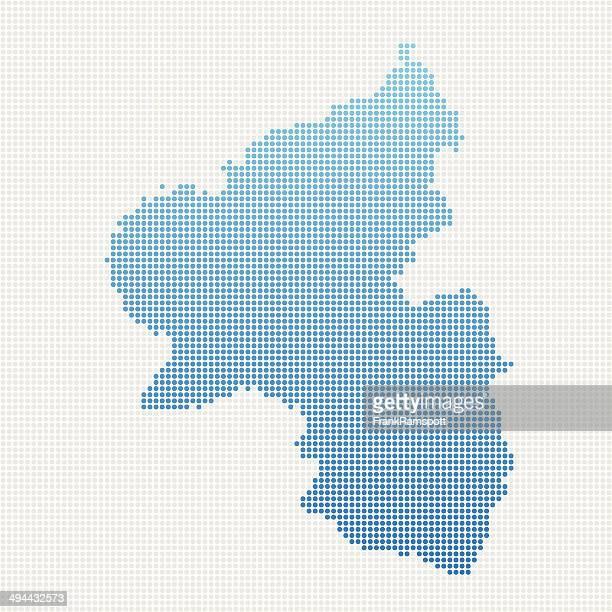 ラインラントプファルツマップブルーの水玉模様 - ラインラント=プファルツ州点のイラスト素材/クリップアート素材/マンガ素材/アイコン素材