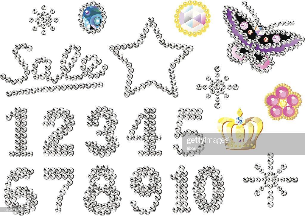 rhinestone ornaments numbers