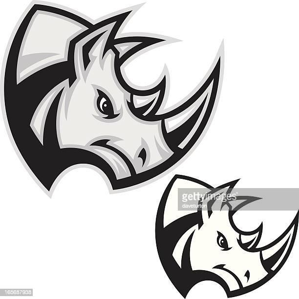 Rhino Head Charge B&W