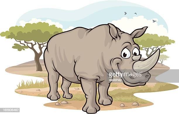 Rhino on the Savannah