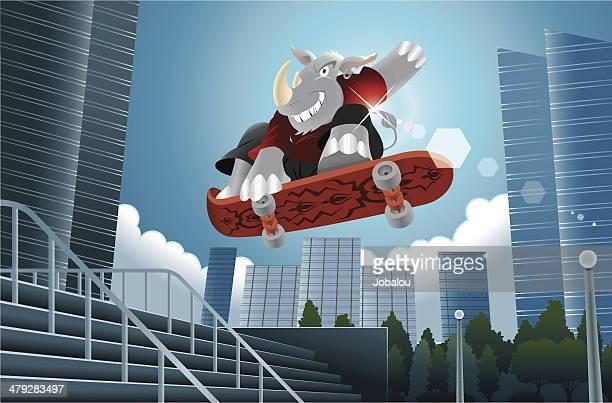 Rhino Skate Urban Scene