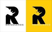 R. Rhinoceros typography