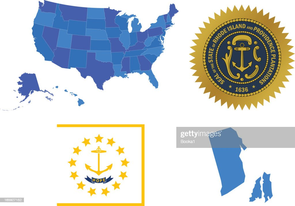 Rhode Island State Set Vector Art Getty Images