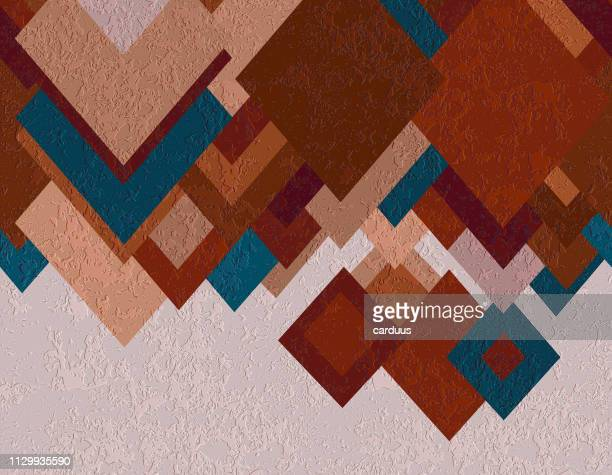 rhombic  textured  background - blanket texture stock illustrations, clip art, cartoons, & icons