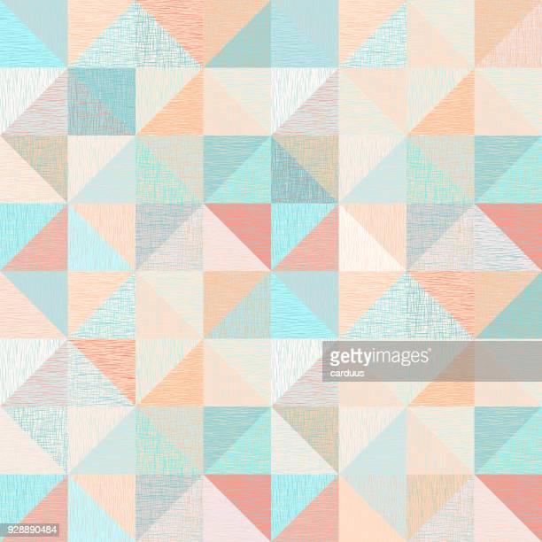 rhombus   textured seamless pattern - rhombus stock illustrations