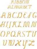 Ribbon alphabet