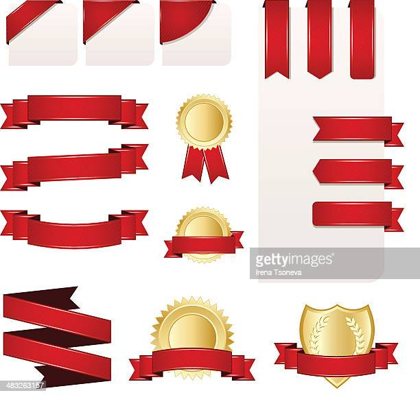 Ribbon, Banner and Label Set