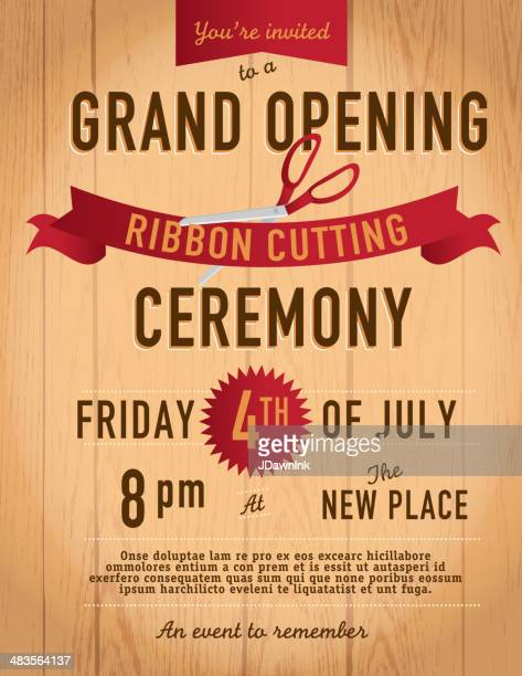 Ribbon Cutting Vector Art And Graphics