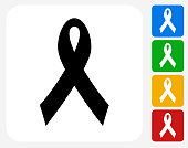Ribbon Icon Flat Graphic Design