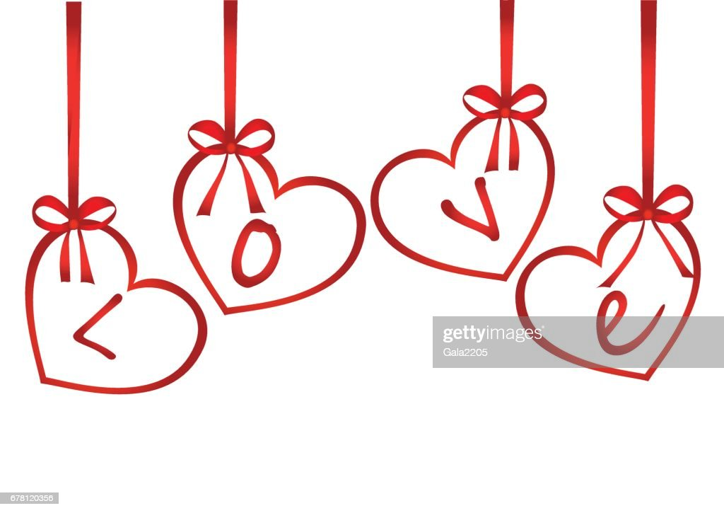 A ribbon in the shape of a hearts red bows greeting card or a ribbon in the shape of a hearts red bows greeting card or invitation stopboris Image collections