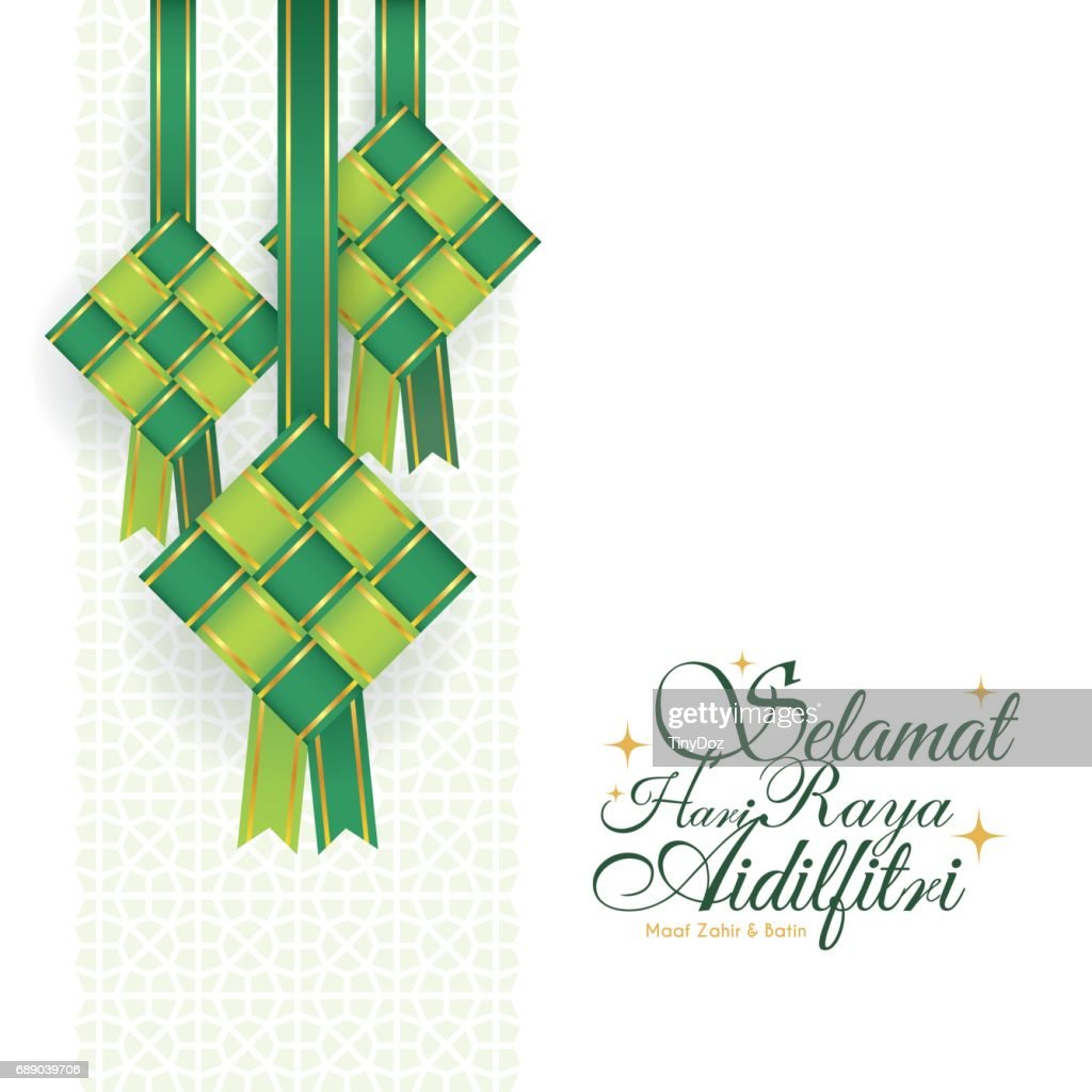 Ribbon ketupat - green