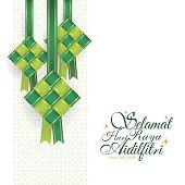 Ribbon ketupat - green