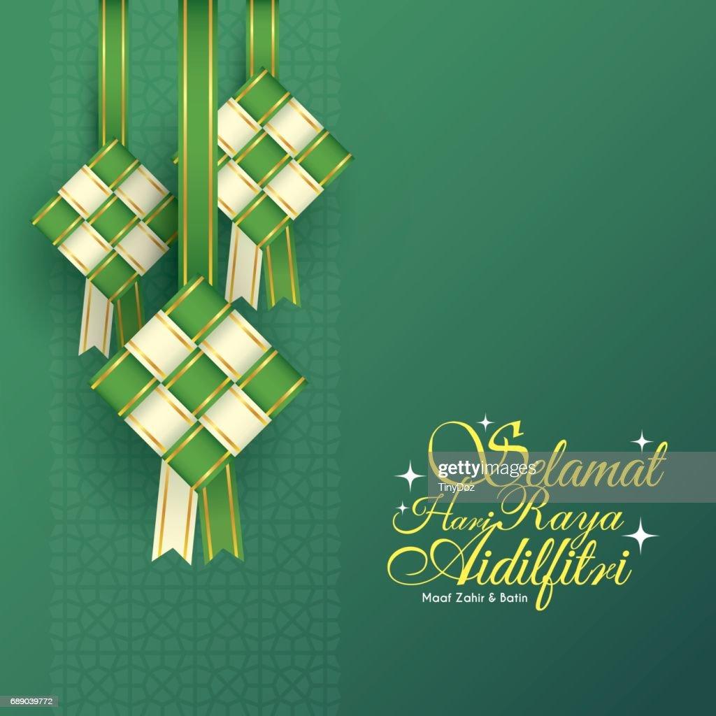 Ribbon ketupat - white