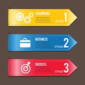 Ribbon Modern template vector banner info graphics.