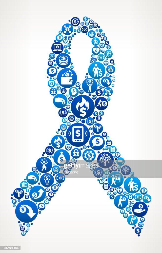 Multifunktionsleiste Geld blaues Symbol Muster Hintergrund : Stock-Illustration
