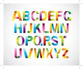 Ribbon typography