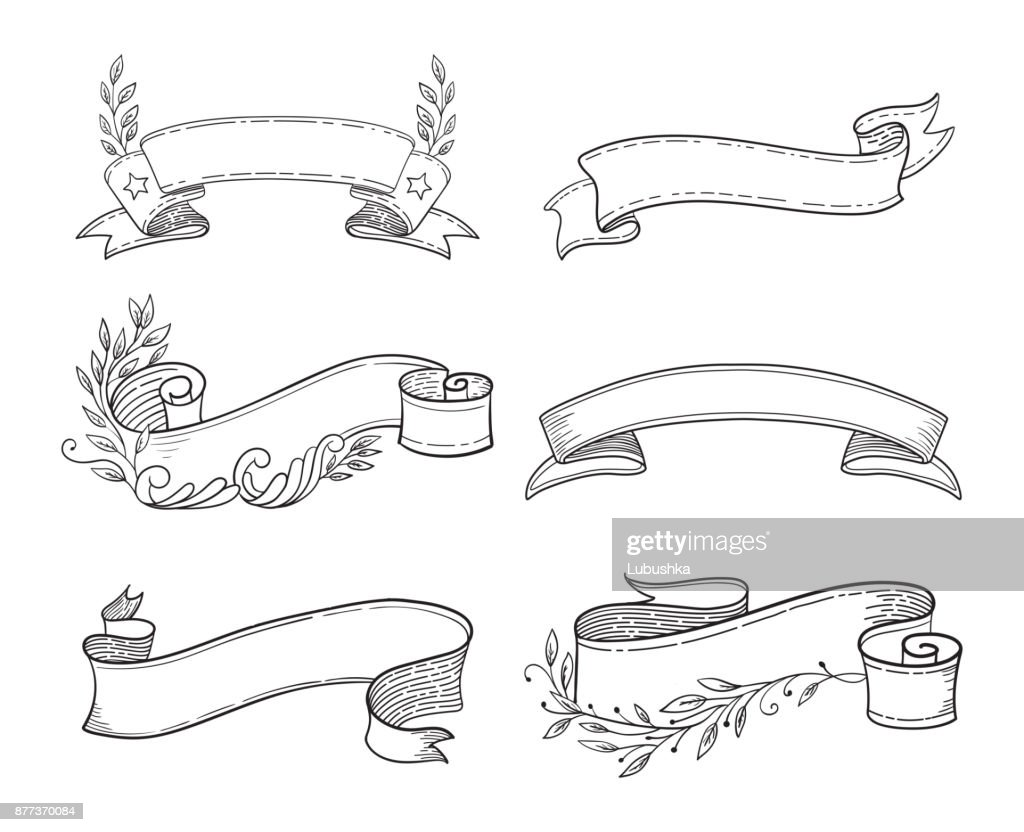 Ribbon vector illustration