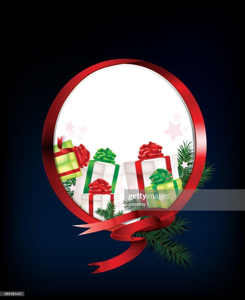 Ribbon_ring_christmas : Arte vetorial