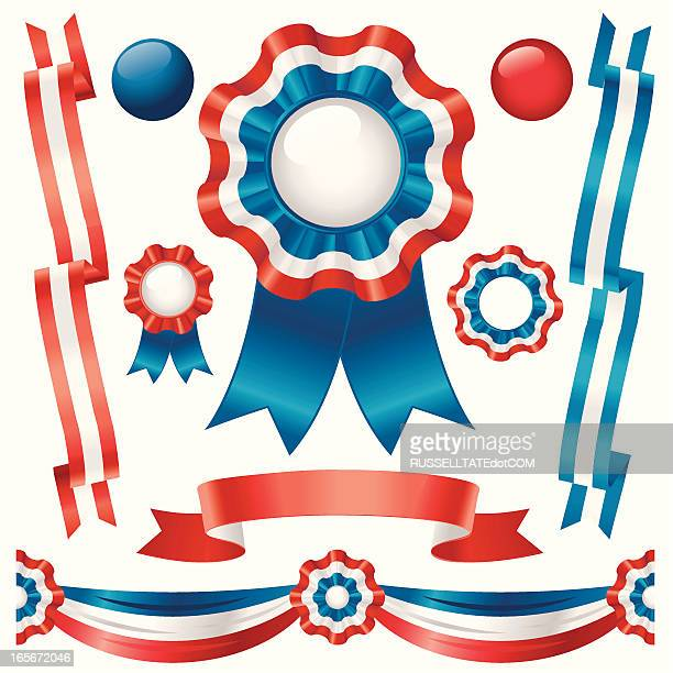 stockillustraties, clipart, cartoons en iconen met ribbons in red,white and blue - sjerp