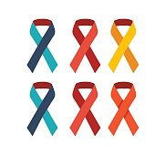 ribbons in various colours