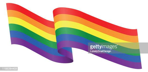 ribbons lgbt - homosexual couple stock illustrations