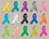 Ribbons of Various Colors