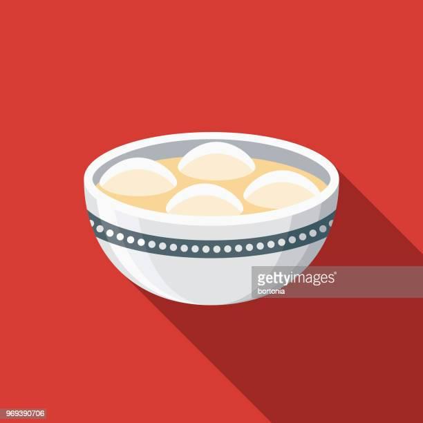 Rice Balls Flat Design Chinese New Year Icon