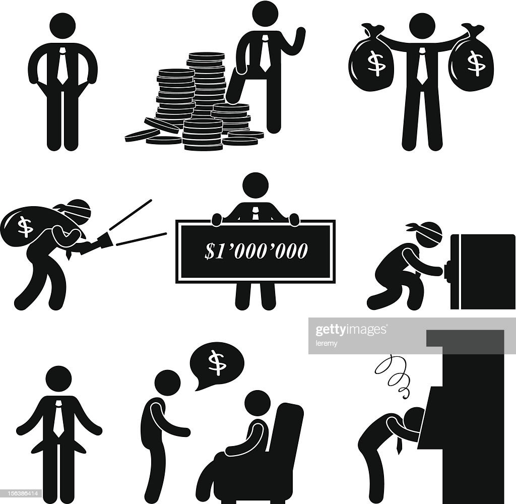 Rich and Poor Man Pictogram