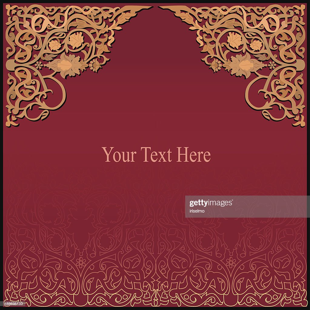 rich arabic background. vector EPS8
