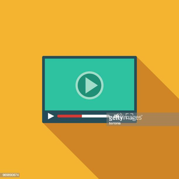 rich content flat design seo icon - personal stereo stock illustrations