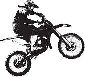 Rider participates motocross championship.