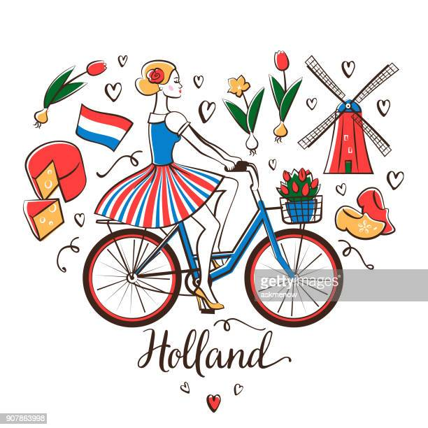 Riding a bicycle in Holland