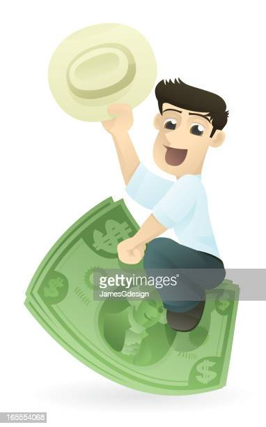 riding investment - cash flow stock illustrations, clip art, cartoons, & icons