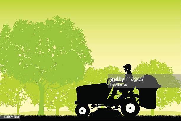 Riding Lawn Mower Background