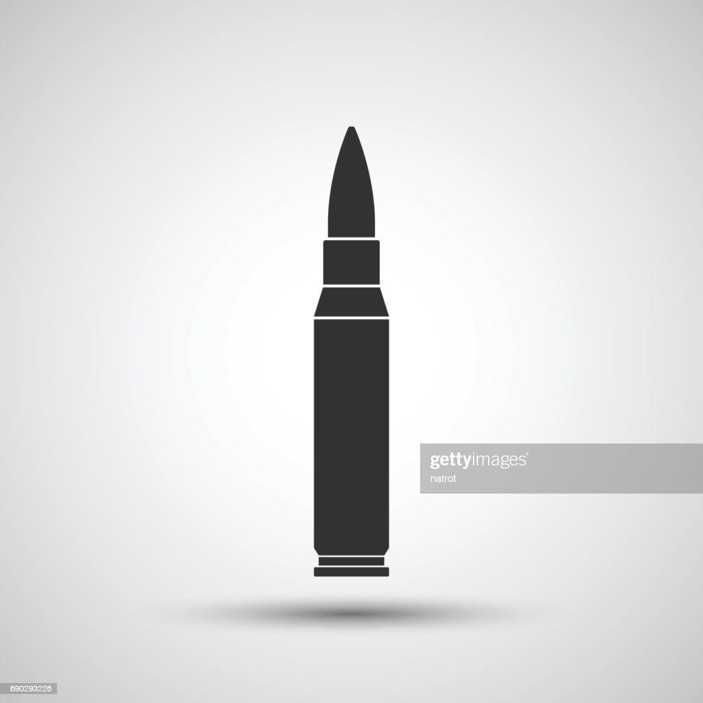 Rifle bullet icon